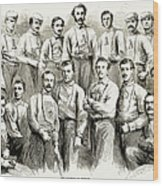 Baseball Teams, 1866 Wood Print