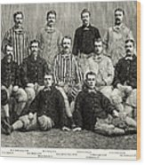 Baseball: White Stockings Wood Print