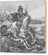 Battle Of Agincourt, 1415 Wood Print