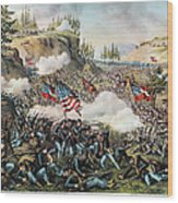 Battle Of Chickamauga 1863 Wood Print