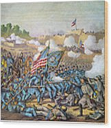 Battle Of Williamsburg Wood Print