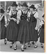 Bavarian Girls Wood Print