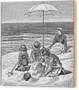 Beach Scene, 1879 Wood Print