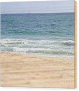 Beach Walk Wood Print