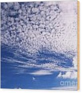 Beautiful Sky And Cloud Formation Wood Print