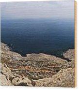 Beautiful View On Mediterranean Sea From Cape Gkreko In Cyprus Wood Print