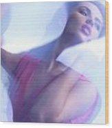 Beauty Photo Of A Woman In Shining Blue Settings Wood Print by Oleksiy Maksymenko