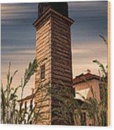 Beavertail Lighthouse Wood Print