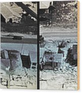 Before And After Hurricane Eloise 1975 Wood Print by Science Source