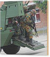 Belgian Infantry Soldiers Exit Wood Print