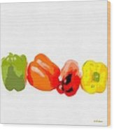 Bell Peppers Wood Print