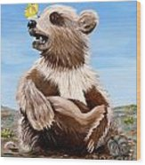 Ben Bear And Butterfly Wood Print