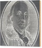 Ben Franklin In Negative Wood Print