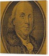 Ben Franklin In Orange Wood Print