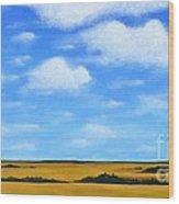Big Sky Prairie Wood Print