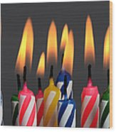 Birthday Candles Wood Print