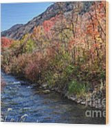Blacksmith Fork River In The Fall - Utah Wood Print