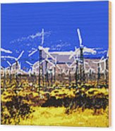 Blowing In The Wind Wood Print by David Lee Thompson