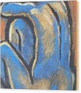 Blue Back Wood Print