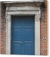 Blue Irish Door Wood Print