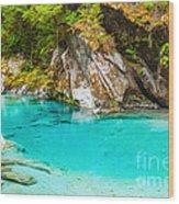 Blue Pools Wood Print by MotHaiBaPhoto Prints
