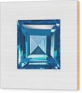 Blue Sapphire Isolated Wood Print