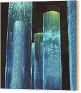 Blue Tubes Wood Print