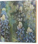 Bluebonnet Blessing Wood Print