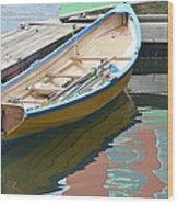 Boats Of Boston Harbor Wood Print by Susan McNamara