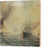 Bombardment Of Sale Wood Print