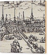Boston, 1743 Wood Print