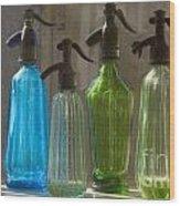 Bottle Of Water Wood Print