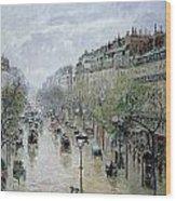 Boulevard Montmartre Wood Print