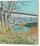 Bridge In Montgomery Wood Print