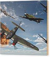 British Hawker Hurricane Aircraft Wood Print
