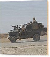 British Soldiers Patrol Afghanistan Wood Print
