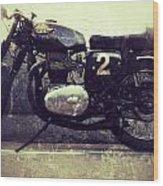 Bsa Motorbike Wood Print