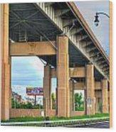 Buffalo Skyway Wood Print