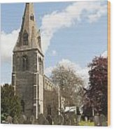 Building Church St Peters North Rauceby Linconshire Wood Print