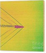 Bullet Through Air Wood Print by Omikron