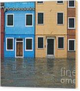 Burano Italy 1 Wood Print