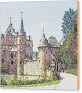 Burg Satsvey Germany Wood Print