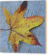Burnished Gold On Wood Wood Print