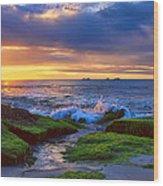 Burns Beach Wood Print by Imagevixen Photography