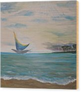Butterfly Sails Wood Print