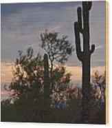 Cactus Vantage Wood Print