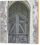 Caerphilly Castle Gate Wood Print