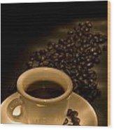Calgary, Alberta, Canada Coffee Beans Wood Print