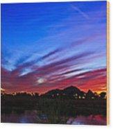 Camelback Mountain At Sunset Wood Print
