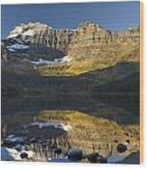 Cameron Lake, Waterton, Alberta, Canada Wood Print